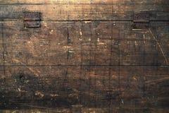 Tempo marcado velho da caixa de madeira foto de stock royalty free