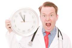 Tempo medico di frustrazione (l'orologio di filatura passa la versione) immagine stock libera da diritti