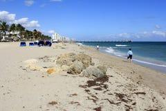 Tempo na praia Foto de Stock Royalty Free