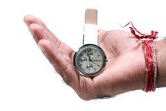 Tempo nas mãos Imagens de Stock