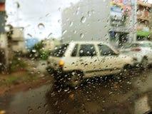 Tempo nebuloso do dia chuvoso fotografia de stock