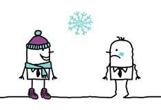 Tempo nevado & acessórios ilustração do vetor
