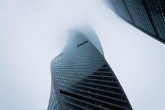 Tempo nevoento em Moscou fotografia de stock royalty free