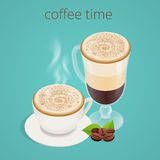 Tempo o pausa caffè del caffè Concetto di socializzazione di chiacchierata di interazione della gente del gruppo Fotografia Stock