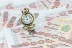 Tempo passado em fazer o dinheiro Fotografia de Stock Royalty Free