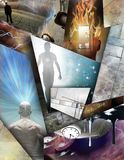 Tempo, pensamentos e ideias ilustração royalty free