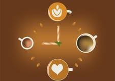 Tempo per caffè Fotografie Stock Libere da Diritti