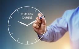 Tempo per cambiamento fotografia stock