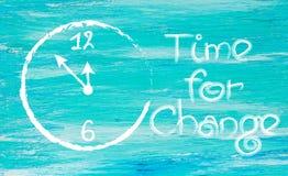 Tempo per cambiamento bianco-dipinto Fotografia Stock