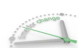 Tempo per cambiamento, edizione di Eco. illustrazione di stock