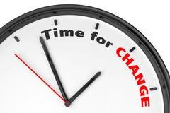Tempo per il concetto del cambiamento Fotografie Stock Libere da Diritti