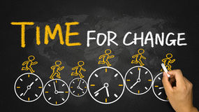 Tempo per il concetto del cambiamento Immagini Stock