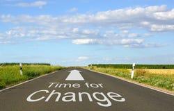 Tempo per il segno del cambiamento Fotografia Stock Libera da Diritti