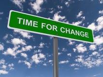 Tempo per il segno del cambiamento fotografie stock