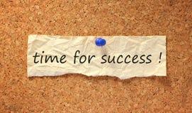 Tempo per il segno di successo Immagini Stock Libere da Diritti