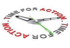 Tempo per inizio di atto di azione il nuovo ora Fotografia Stock Libera da Diritti