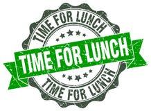 tempo per la guarnizione del pranzo bollo royalty illustrazione gratis