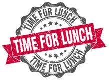 tempo per la guarnizione del pranzo bollo illustrazione di stock