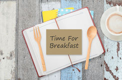 Tempo per la prima colazione Immagini Stock Libere da Diritti