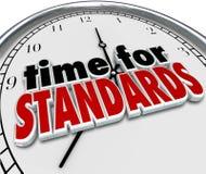 Tempo per la valutazione di prova dell'orologio di norme Immagini Stock