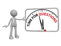 Tempo per le domande Immagine Stock