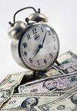 Tempo per soldi Fotografie Stock Libere da Diritti