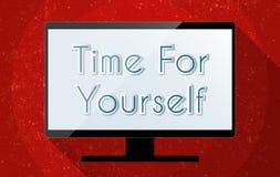Tempo per voi stesso Fotografia Stock