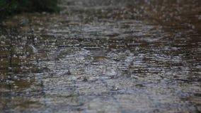 Tempo pericoloso hail video d archivio