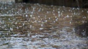 Tempo pericoloso hail stock footage