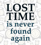 Tempo perso illustrazione di stock