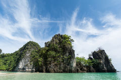 Tempo piacevole all'isola di Hong, Krabi, Tailandia Fotografie Stock