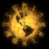 Tempo - riscaldamento globale e cambiamento di clima - l'America illustrazione di stock