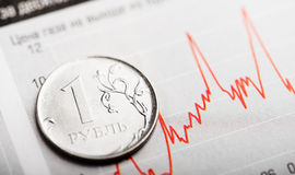 Tempo Rosyjski rubel (płytki DOF) Zdjęcie Royalty Free