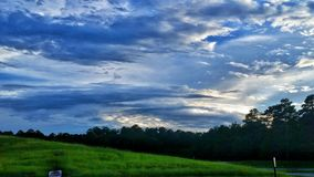 Tempo sbalorditivo del Mississippi di viste Immagini Stock