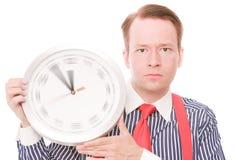 Tempo serio (l'orologio di filatura passa la versione) fotografia stock