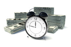 Tempo - soldi illustrazione di stock