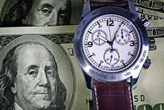Tempo - soldi Fotografie Stock