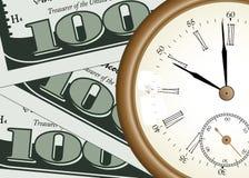Tempo - soldi Immagini Stock Libere da Diritti