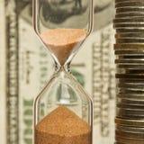 Tempo - soldi Fotografia Stock Libera da Diritti