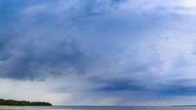 Tempo sombrio, chuva e natureza Foto de Stock Royalty Free