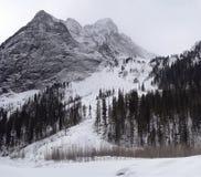 Tempo sombrio em montanhas do inverno Imagem de Stock