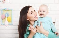 Tempo spendente del bambino e della madre insieme Immagini Stock Libere da Diritti