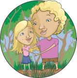 Mamma e figlia all'aperto Immagine Stock
