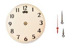 Tempo sulla parte d'annata dell'orologio di un orologio Immagine Stock Libera da Diritti