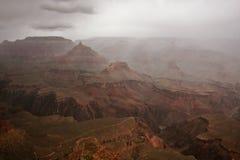 Tempo tempestoso al grande canyon Immagini Stock Libere da Diritti