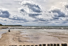 Tempo tempestoso al mare Immagine Stock