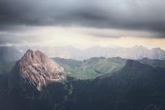 Tempo tempestoso delle montagne Fotografie Stock Libere da Diritti