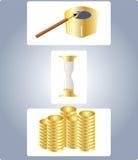 Tempo - um dinheiro Foto de Stock Royalty Free