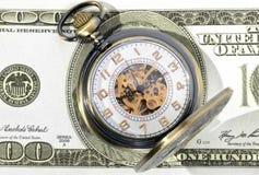 Tempo - um dinheiro Fotografia de Stock