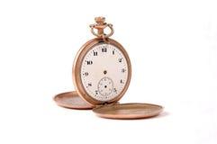 Tempo, vecchio orologio da tasca dagli S.U.A. Fotografia Stock Libera da Diritti